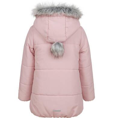 Endo - Długa kurtka zimowa z kapturem dla dziewczynki, różowa, 2-8 lat D04A022_1,4