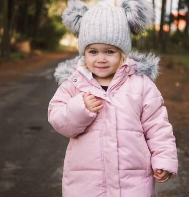 Endo - Długa kurtka zimowa z kapturem dla dziewczynki, różowa, 2-8 lat D04A022_1 3