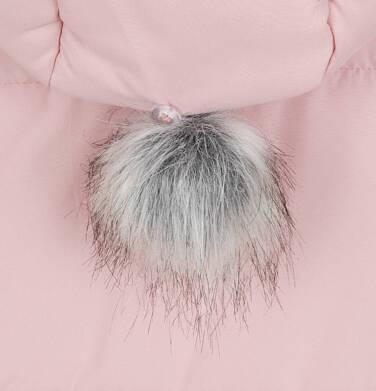 Endo - Długa kurtka zimowa z kapturem dla dziewczynki, różowa, 2-8 lat D04A022_1,8