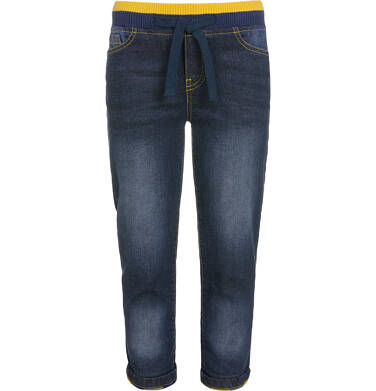 Endo - Spodnie jeansowe ze ściągaczami dla chłopca 9-13 lat C92K503_1