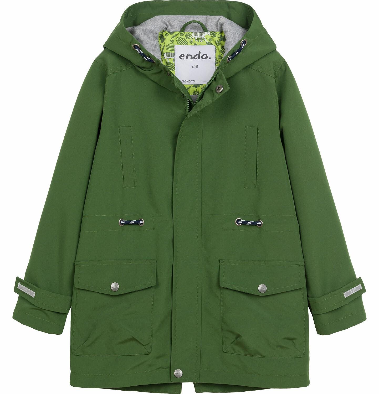Endo - Przejściowa kurtka parka dla chłopca, z odblaskami, zielona, 9-13 lat C03A501_2