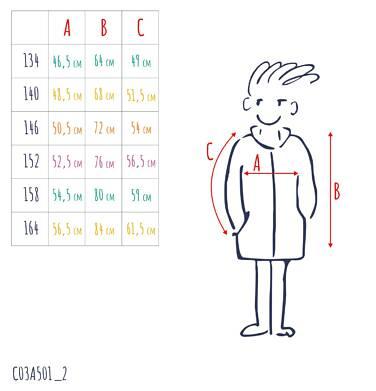 Endo - Przejściowa kurtka parka dla chłopca, z odblaskami, zielona, 9-13 lat C03A501_2,4