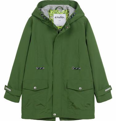 Wiosenna kurtka parka dla chłopca, z odblaskami, zielona, 9-13 lat C03A501_2