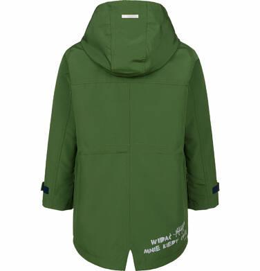 Endo - Przejściowa kurtka parka dla chłopca, z odblaskami, zielona, 9-13 lat C03A501_2,3