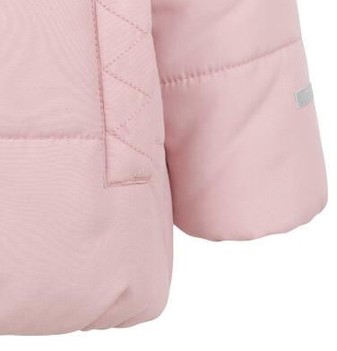 Endo - Długa kurtka zimowa z kapturem dla dziecka do 3 lat, różowa N04A031_1,6