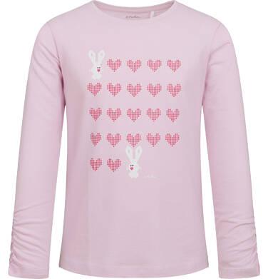 Endo - Bluzka dla dziewczynki z długim rękawem, w serca, jasno - fioletowa, 2-8 lat D04G092_1 17