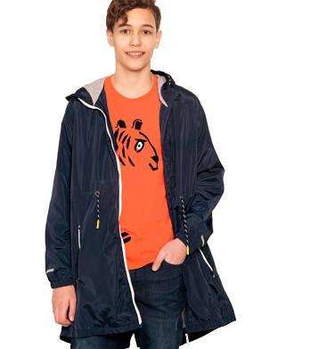 Endo - Wiosenna kurtka parka dla chłopca, z kontrastowym suwakiem, garantowa, 2-8 lat C03A004_1