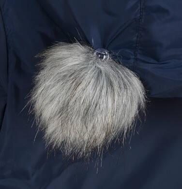 Endo - Długa kurtka zimowa z kapturem dla dziecka do 3 lat, granatowa N04A032_1,6