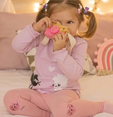 Endo - Bluzka dla dziewczynki z długim rękawem, w serca, jasno - fioletowa, 2-8 lat D04G095_1 6