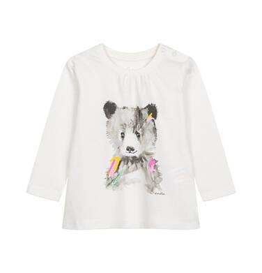 Endo - Bluzka z długim rękawem dla dziecka do 2 lat, z misiem N04G020_1,1