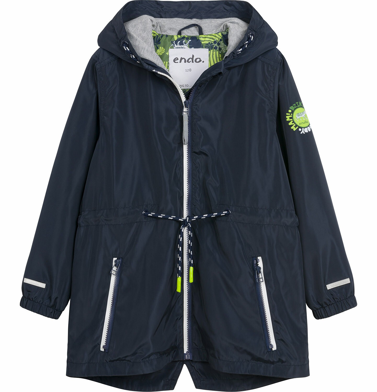 Endo - Wiosenna kurtka parka dla chłopca, z kontrastowym suwakiem, garantowa, 9-13 lat C03A504_1