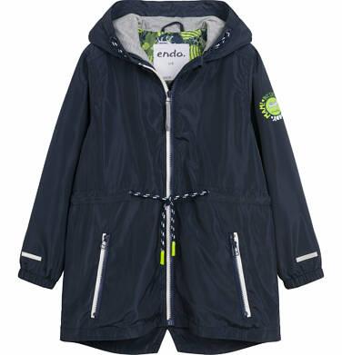 Wiosenna kurtka parka dla chłopca, z kontrastowym suwakiem, garantowa, 9-13 lat C03A504_1