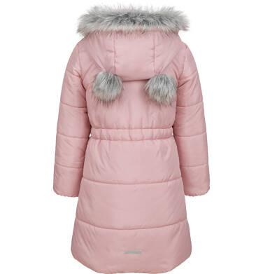 Endo - Długa kurtka zimowa, płaszcz z kapturem dla dziewczynki, różowy, 2-8  lat D04A017_2 4