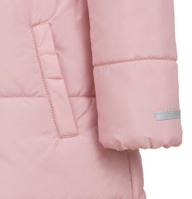 Endo - Długa kurtka zimowa, płaszcz z kapturem dla dziewczynki, różowy, 2-8  lat D04A017_2,8