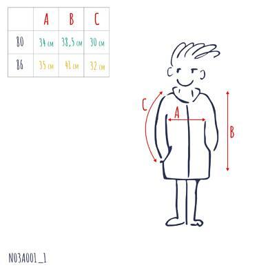 Endo - Przejściowa kurtka dla dziecka do 2 lat, z odblaskami, granatowa N03A001_1,3