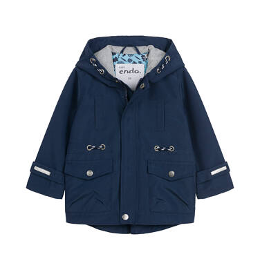 Przejściowa kurtka dla dziecka do 2 lat, z odblaskami, granatowa N03A001_1