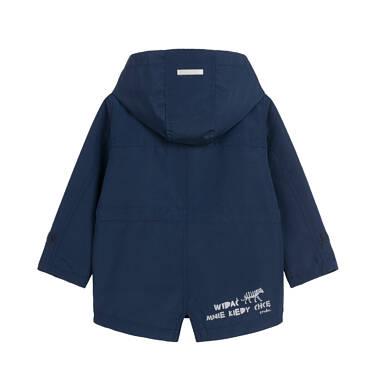Endo - Przejściowa kurtka dla dziecka do 2 lat, z odblaskami, granatowa N03A001_1,2