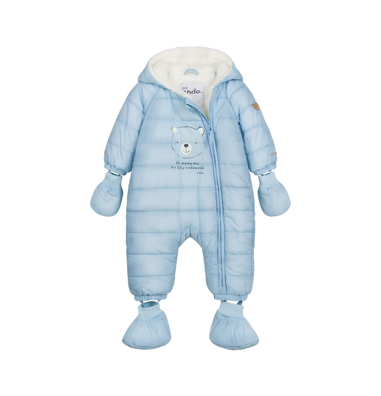 Endo - Kombinezon dla małego dziecka, z misiem, błękitny N04A001_1