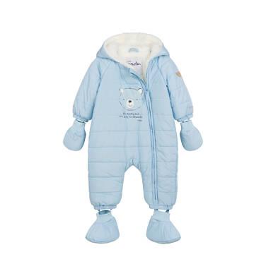 Kombinezon dla małego dziecka, z misiem, błękitny N04A001_1