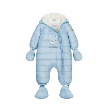 Endo - Kombinezon dla małego dziecka, z misiem, błękitny N04A001_1 9