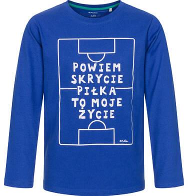 Endo - T-shirt z długim rękawem dla chłopca, piłka to moje życie, niebieski, 9-13 lat C92G521_1