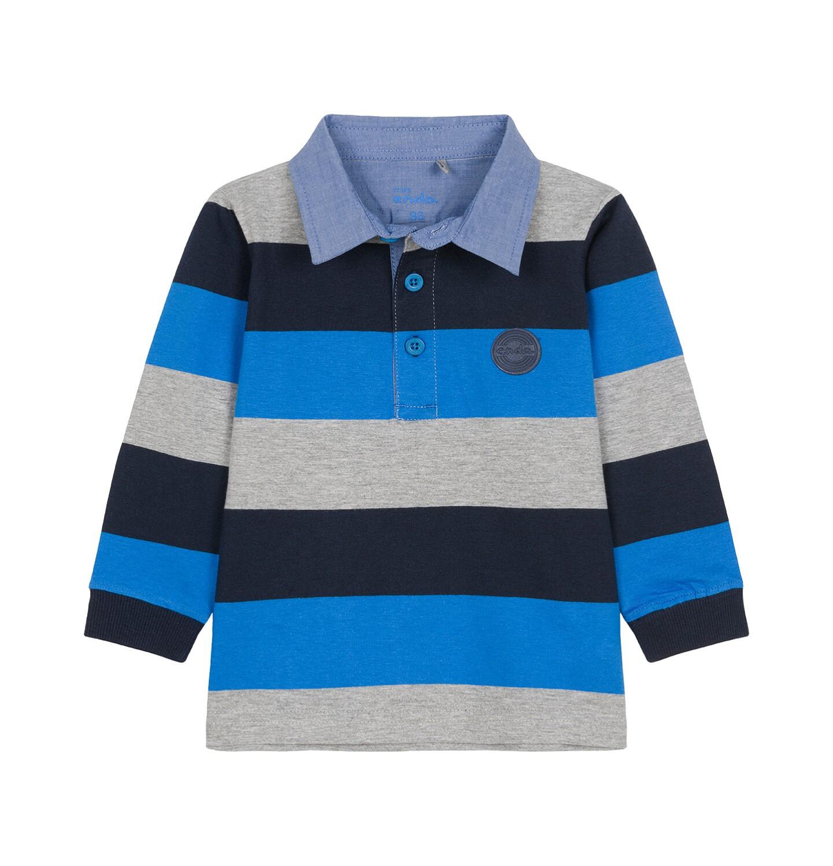 Endo - Koszulka polo z długim rękawem dla dziecka 0-3 lata N92G001_1