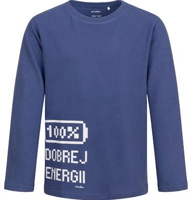 T-shirt z długim rękawem dla chłopca, niebieski, 9-13 lat C04G042_1