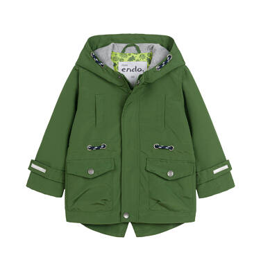 Endo - Wiosenna kurtka dla dziecka do 2 lat, z odblaskami, zielona N03A001_2
