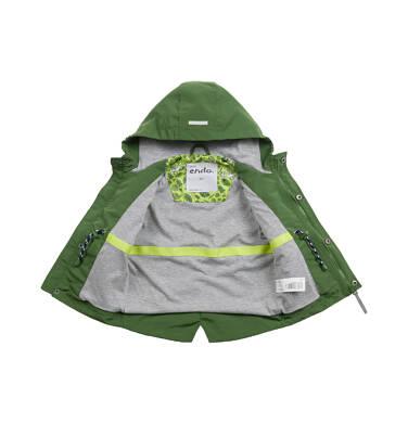 Endo - Przejściowa kurtka dla dziecka do 2 lat, z odblaskami, zielona N03A001_2 1