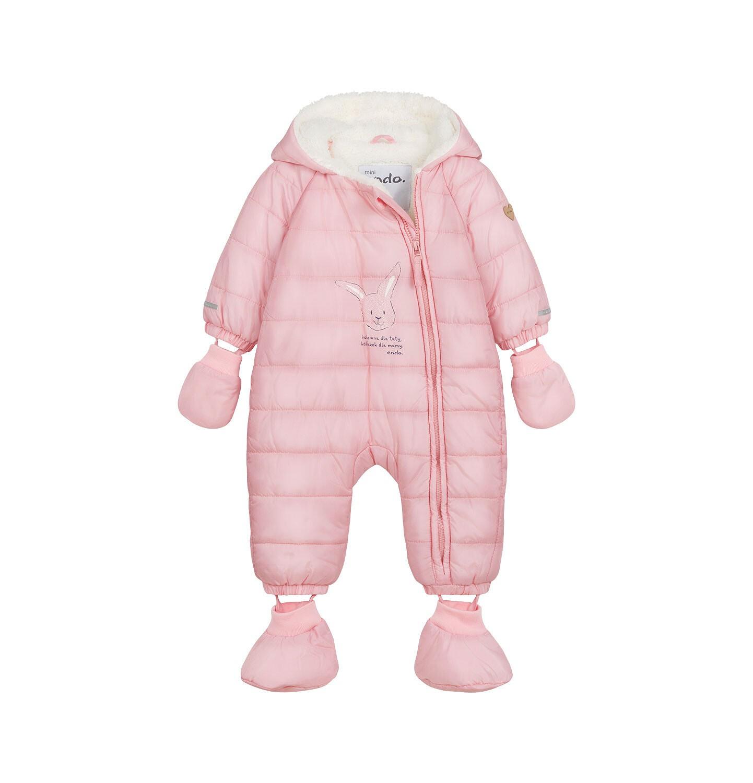 Endo - Kombinezon dla młego dziecka, z królikiem, różowy N04A002_1