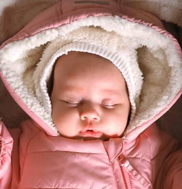 Endo - Kombinezon dla młego dziecka, z królikiem, różowy N04A002_1 1