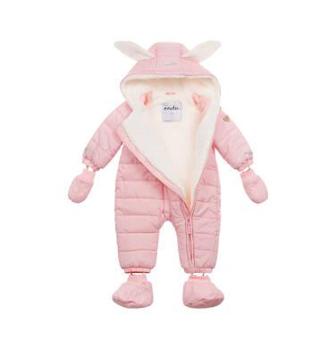 Endo - Kombinezon dla młego dziecka, z królikiem, różowy N04A002_1,2