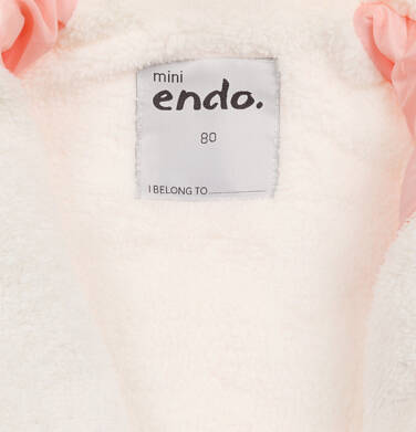 Endo - Kombinezon dla młego dziecka, z królikiem, różowy N04A002_1,7