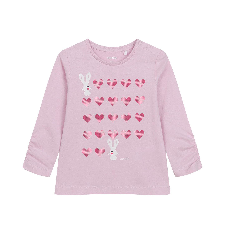 Endo - Bluzka z długim rękawem dla dziecka do 2 lat, jasno - fioletowa N04G036_1
