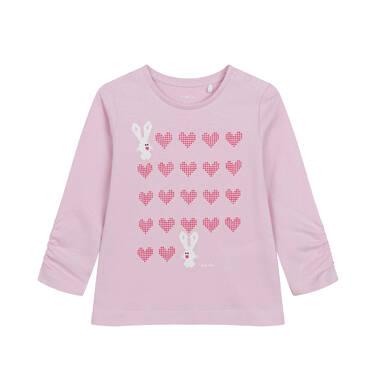 Endo - Bluzka z długim rękawem dla dziecka do 2 lat, jasno - fioletowa N04G036_1,1