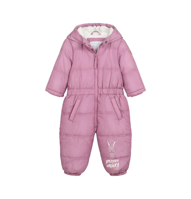 Endo - Kombinezon dla małego dziecka, z uszami, różowy N04A010_1