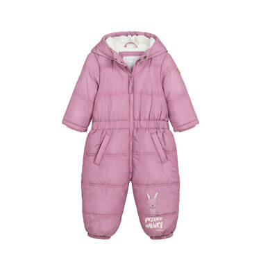 Kombinezon dla małego dziecka, z uszami, różowy N04A010_1