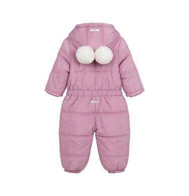 Endo - Kombinezon dla małego dziecka, z uszami, różowy N04A010_1,3