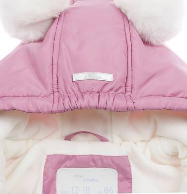 Endo - Kombinezon dla małego dziecka, z uszami, różowy N04A010_1,4