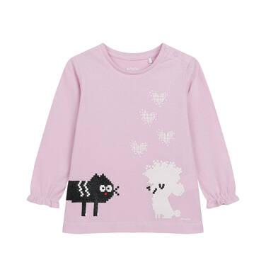 Endo - Bluzka z długim rękawem dla dziecka do 2 lat, jasno - fioletowa N04G038_1 23
