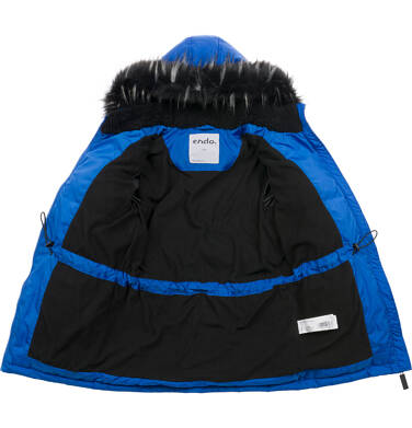 Endo - Długa kurtka zimowa dla chłopca, niebieska, 9-13 lat C04A004_1 9