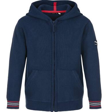 Sweter rozpinany z kapturem dla chłopca 9-13 lat C91B501_1