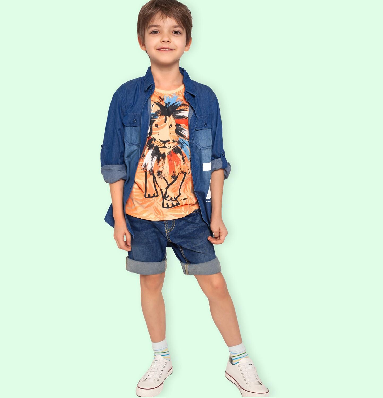 Endo - Krótkie spodenki jeansowe dla chłopca, 9-13 lat C03K534_2