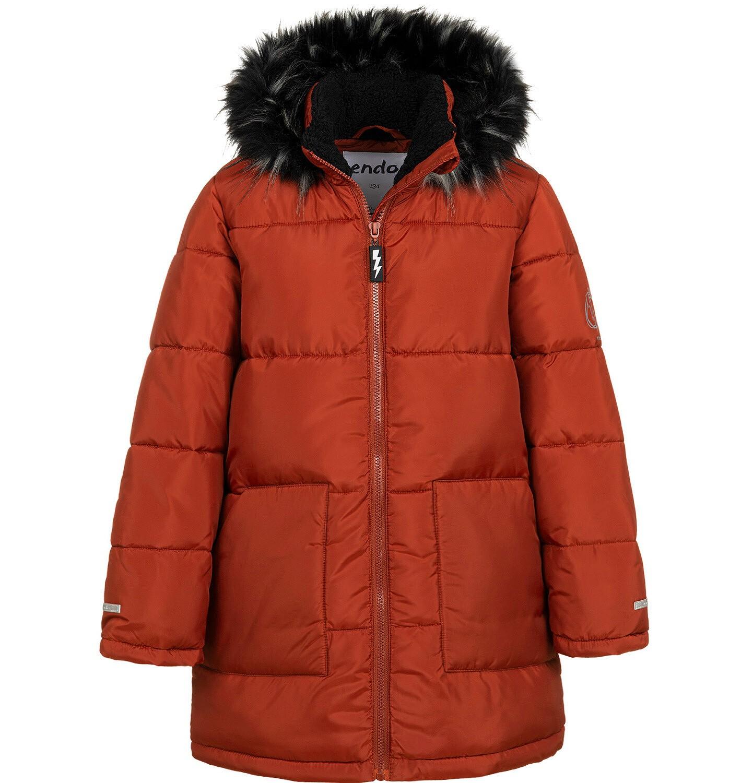 Endo - Długa kurtka zimowa dla chłopca, ceglany pomarańczowy, 9-13 lat C04A004_2