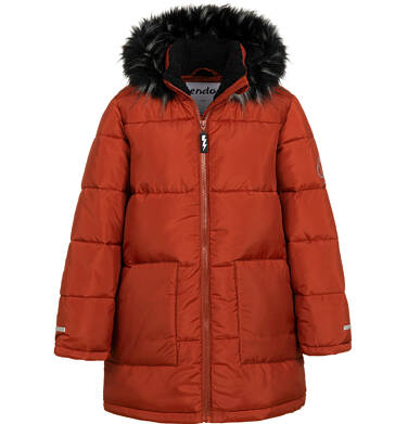 Endo - Długa kurtka zimowa dla chłopca, ceglany pomarańczowy, 9-13 lat C04A004_2 3