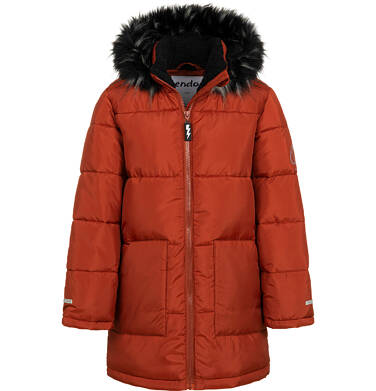 Endo - Długa kurtka zimowa dla chłopca, ceglany pomarańczowy, 9-13 lat C04A004_2 34