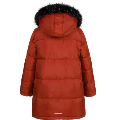 Endo - Długa kurtka zimowa dla chłopca, ceglany pomarańczowy, 9-13 lat C04A004_2,2