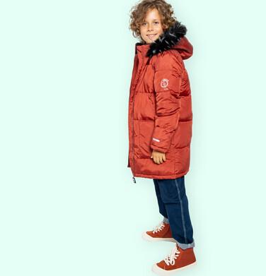 Endo - Długa kurtka zimowa dla chłopca, ceglany pomarańczowy, 9-13 lat C04A004_2 5