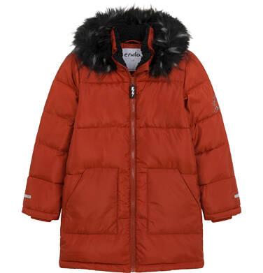 Endo - Długa kurtka zimowa dla chłopca, ceglany pomarańczowy, 9-13 lat C04A004_2 18