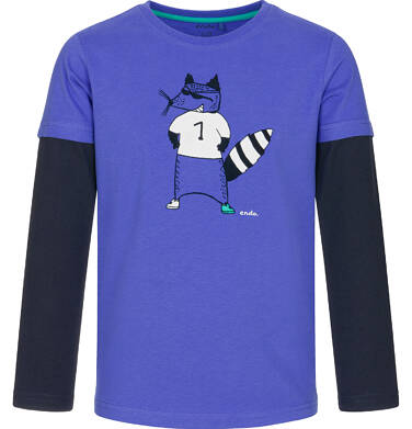Endo - T-shirt z długim rękawem dla chłopca 3-8 lat C92G032_1